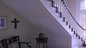 Walls and staircase painted in home