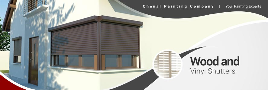 Wood and Vinyl Shutters Painting Services